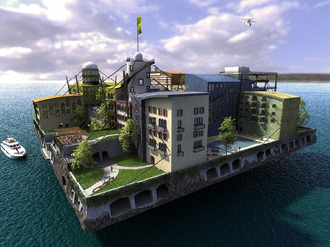 город в море, Andras Gyorfi, фото: seasteading.org